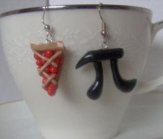Pi Earrings Geek Crafts