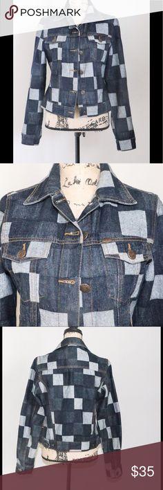 8d91970db92 CJ patchwork denim jacket Sz M CJ patchwork denim jacket Sz M gently worn  condition CJ Jackets   Coats Jean Jackets