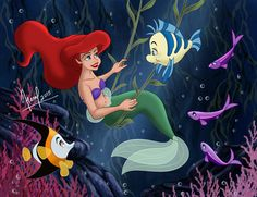 This is a gift to my friend The little Mermaid © Disney My Facebook : www.facebook.com/pages/Fernl/5…