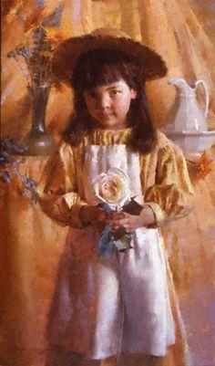 """Yellow Brittany"" -- Morgan Weistling (1964-- American)"