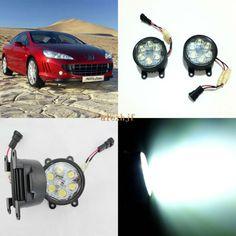 July King 18W 6LEDs H11 LED Fog Lamp Assembly Case for Peugeot 407 2005~2006, 6500K 1260LM LED Daytime Running Lights