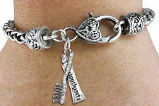 Toothbrush and Toothpaste Charm Bracelet - Gift for Dentist, Dental Assistant