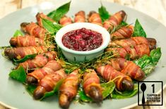 Pigs in Blankets with Cranberry Sauce : Jamie Oliver