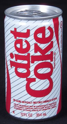 First Diet Coke can 1982--Thank you for helping me make it thru college!!!