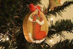 """ Boots "" wooden ornament #decoupage #rustic #xmasdecor"