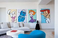 animation, decoration, home, house, living room, the jetsons
