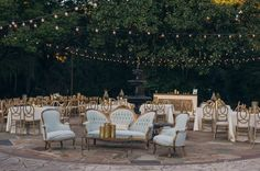 428 Main's Vintage Lounge | Vintage Gold Southern Wedding at the Legare Waring House by Charleston Wedding Planner ELM Events