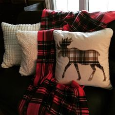 Moose and plaid decor - it doesn't get more Canadian than this!