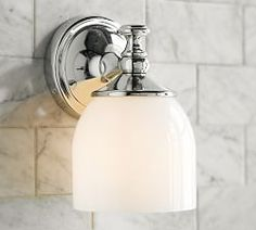 Bathroom Lighting, Bath Lights & Bath Lighting Fixtures   Pottery Barn  Sconces can point up or down