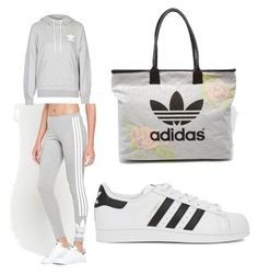 """""""Addidas❤️"""" by anastasia-rose-harris on Polyvore featuring adidas, adidas Originals, women's clothing, women's fashion, women, female, woman, misses and juniors"""