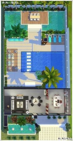 A floor plan, or floorplan, is a virtual model of a building floor plan, depicted from a birds-eye view, utilized within the building industry to Sims 2 House, Sims 4 House Plans, Sims 4 House Building, Sims 4 House Design, House Layout Plans, House Layouts, Sims 4 Modern House, Sims 4 Penthouse, Lotes The Sims 4