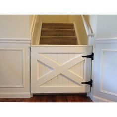 I love the idea of using a barn door type of gate for a baby or dog gate!