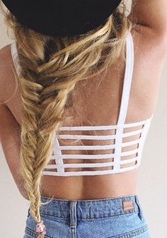 Caged Back Crop Tank - White - so perfect under my summer maxi dresses - no more peekaboo bras!