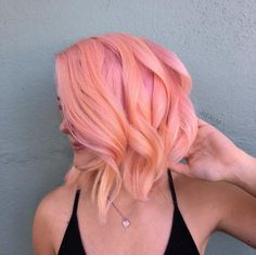 Neon Peach - Rose Gold Hair Ideas That'll Have You Dye-Ing For This Magical Color - Photos