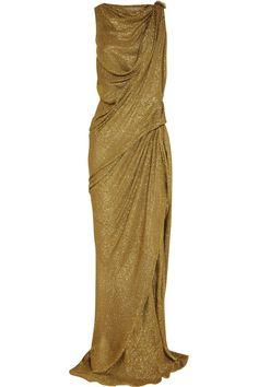 Lanvin|Draped lamé gown - Goddess worthy!
