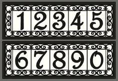 Framed Decorative Tile House Numbers Framed by MalibuTileWorks