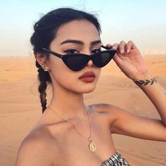 Vintage Cateye Sunglasses Women Sexy Retro Small Cat Eye Sun Glasses Brand Designer Colorful Eyewear For Female Oculos De Sol Retro Sunglasses, Cat Eye Sunglasses, Round Sunglasses, Sunglasses Women, Look 80s, Lily Maymac, Glasses Brands, Style Vintage, Sunglasses