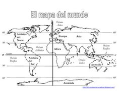 World Map/Mapa del Mundo for tracing and or drawing