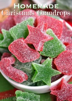 These Homemade Gumdrops are the perfect treat to make for friends and family during the holidays! Made with just a handful of ingredients and so delicious!