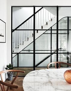 A west London townhouse has been transformed by the interior designer Sarah Delaney into an inviting family home for its American owners with the addition of clever transatlantic touches. Wood Flooring Company, Solid Wood Flooring, London Townhouse, London House, Crittal Doors, Glazed Brick, Flooring Companies, Brick Tiles, Home Upgrades