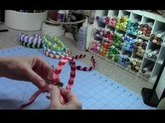 ▶ Chevron Woven Ribbon Headband Tutorial - YouTube