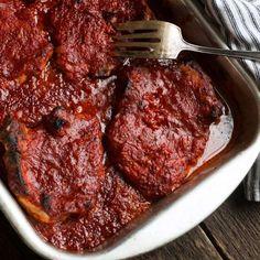 louis style bbq easy oven pork chops - seasons and suppers Oven Pork Chops, Grilled Pork Chops, Baked Pork Chops, Pork Recipes For Dinner, Healthy Grilling Recipes, Meat Recipes, Appetizer Recipes, Appetizers, Pork Chop Seasoning