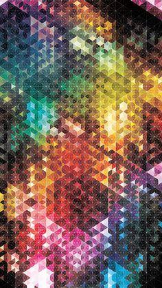 キラキラの六角形 iPhone5 スマホ用壁紙