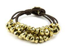 UKUM - Pulsera CAMILA T-414 CAFE Bracelets, Gold, Leather, Jewelry, Fashion, Bracelet, Moda, Jewlery, Bijoux