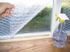 Bubble wrap window insulation for winter, as well as privacy. Spray water on the window, and press wrap against it. You can pull if down if company comes, and re-put if back up. Use it year after year.