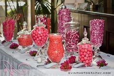 mesas dulces hechas con caramelos para fiestas y eventos