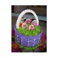 Entirely Edible Easter Basket Cake