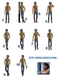 Sims2City: Male posebox