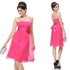 Hot-Pink-Short-Cocktail-Party-Bridesmaid-Prom-Dress-03801-Size-8-10-12-14-16-18