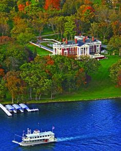 Iconic Waterfront Mansions…Lake Geneva, WI - The very rich of Chicago (Wrigley's, McCormick's, etc.) had summer homes on this lake and this is just one of them.