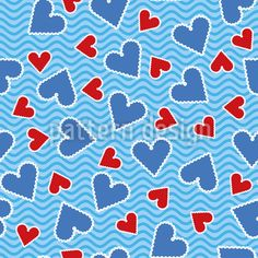 Heart Stamps Pattern Design by Sonja Glisovic at patterndesigns.com Vector Pattern, Pattern Design, Postage Stamps, Surface Design, Heart Shapes, Your Design, Valentines Day, Lettering, Patterns