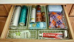 Bathroom Organization: Drawers
