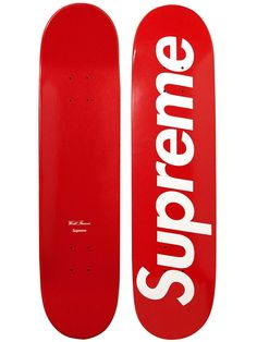 Supreme has just relaunched their online store with a variety of new items for sale which includes this Supreme Logo Skateboard that comes in three colors; red, blue and black. The skate decks feature the Supreme logo on one side while the otherside has a subtle star pattern. The boards retail for $49. Other items available at the Supreme online store include the Corduroy Baseball Jacket, Live to Ride Tee, Gonz Crewneck, Oversize Plaid Flannel, Gangster Tee, Oakley x Supreme Frogskin…