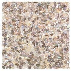 Ivy Hill Tile Noburu Random Sized Glass Pearl Shell Mosaic Tile in Silver Mosaic Wall, Mosaic Tiles, Mosaic Tile Shower Floor, Mosaics, Tile Art, Wall Tile, Tile Floor, Stone Mosaic, Mosaic Glass