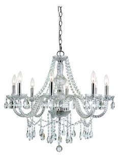 Chandeliers  Trans Globe Lighting HU8 SL Eight Light Crystal Chandelier <3 Locate the offer simply by clicking the VISIT button