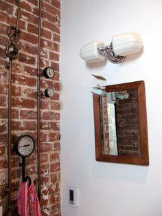 plumbing art work! use of old pressure gauges