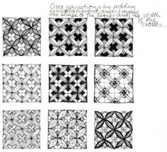 CRUX - Tanglen im Norden / Zentangle mit Henike Bratz Mandala Doodle, Doodles Zentangles, Zentangle Drawings, Zen Doodle, Doodle Drawings, Drawing Letters, Paper Drawing, Doodle Patterns, Zentangle Patterns