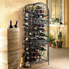 Renaissance Wrought Iron Wine Jail - Overstock Shopping - Great Deals on Wine Enthusiast Wine Racks
