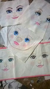 Rosto bonecas Great doll faces! | Doll painting Doll face Doll face paint