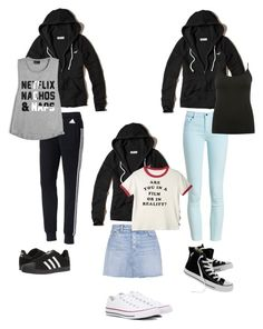 """""""гулять"""" by kiss-lily on Polyvore featuring Hollister Co., adidas, Barbour, GRLFRND, Converse и M&Co"""
