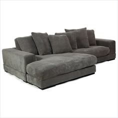 Moe's Plunge Sectional in Charcoal - TN-1004-25