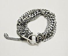 KSZU- Multi Chain Silver Bracelet Vogue, Personalized Items, Chain, Sunglasses, My Style, Bracelets, Earrings, Silver, Accessories