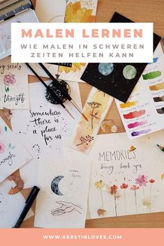 Malen lernen: Wie Malen in schweren Zeiten helfen kann – kerstinloves :    #Malen #lernen: #Malen Hello Welcome, Self Love, Challenges, Mindfulness, Scrapbook, Memories, Blog, Diy, Inspiration