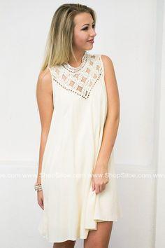 Julia Lace Cream Dress