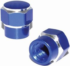 "Amazon.com : (2 Count) Cool and Custom ""Short Two Tone Hexagon with Easy Grip Shape"" Tire Wheel Rim Air Valve Stem Dust Cap Seal Made of Genuine Anodized Aluminum Metal {Bright Audi Blue and Silver Colors - Hard Metal Internal Threads for Easy Application - Rust Proof - Fits For Most Cars, Trucks, SUV, RV, ATV, UTV, Motorcycle, Bicycles} : Sports & Outdoors"