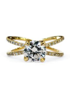 Tilda combines meticulous craftsmanship with artful design—the result is a stunning heirloom that is as timeless as it is elegant. #danawaldenbridal #yellowgoldrings #uniqueengagementrings